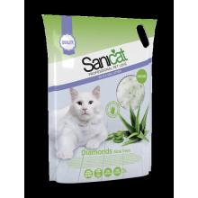 Sanicat Professional Diamonds Aloe Vera силикагелевый наполнитель для кошачьего туалета