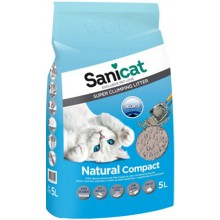 Sanicat Compact комкующийся наполнитель для кошачьего туалета