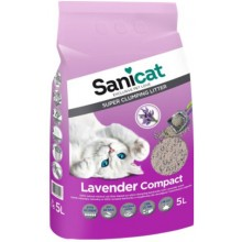 Sanicat Compact Lawanda комкующийся наполнитель для кошачьего туалета