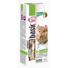 Lolo Pets Coconut-Rose Smakers Chinchilla для шиншилл с кокосом и лепестками роз