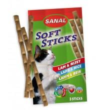 Мягкие колбаски Sanal Soft Sticks Lamb & Rice с ягненком и рисом для кошек котов котят