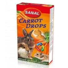 Лакомство дропсы Sanal Carrot Drops с морковью для грызунов