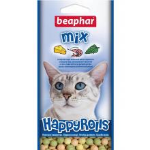 Beaphar Happy Rolls Mix лакомство с креветками, сыром и кошачьей мятой для кошек