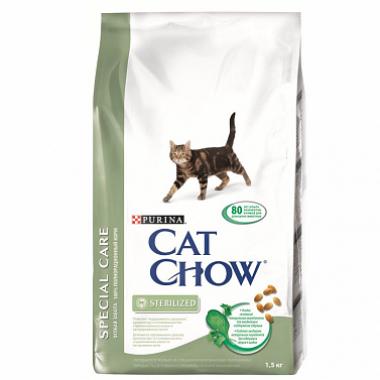 Сухой корм CAT CHOW Special Care Sterilized для кастрированных и стерилизованных кошек