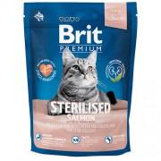 Сухой корм Brit Premium Sterilised Salmon для стерилизованных кошек и котов c лососем