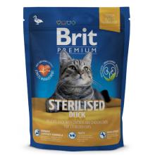 Сухой корм Brit Premium Sterilised Duck для стерилизованных кошек и котов с уткой