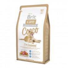 Сухой корм Brit Care Cat Cocco с уткой и лососем для привередливых кошек с чувствительным пищеварением