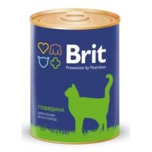 Консервы Brit с говядиной для кошек