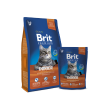 Сухой корм Brit Premium Indoor для кошек домашнего содержания