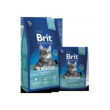 Сухой корм Brit Premium Sensitive для кошек с чувствительным пищеварением