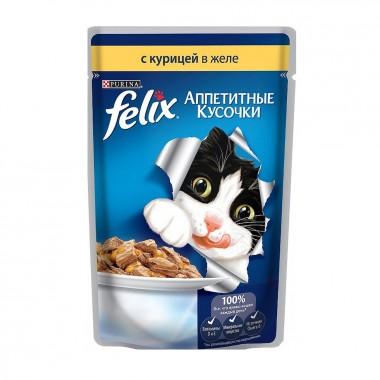 Влажный корм Felix (Феликс) Аппетитные кусочки желе