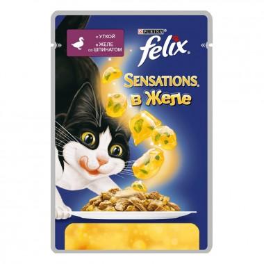 Влажный корм Felix (Феликс) Sensations в ароматном желе