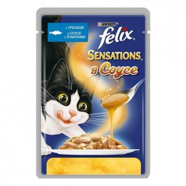 Влажный корм Felix (Феликс) Sensations в соусе