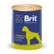 Консервы Brit Premium Говядина и Пшено для собак