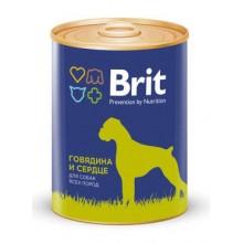 Консервы Brit Premium BEEF&HEART Говядина и Сердце для собак