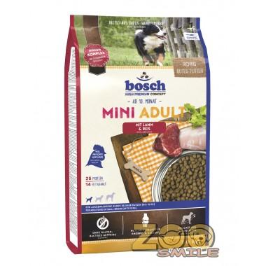 Сухой корм Bosch Mini Adult Lamb & Rice для взрослых собак мелких пород с ягненком и рисом