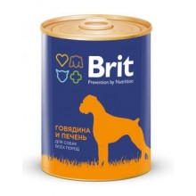 Консервы Brit Premium RED MEAD&LIVER Говядина и Печень для собак