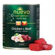 Nuevo консервы для щенков с курицей, говядиной, рисом и кальцием