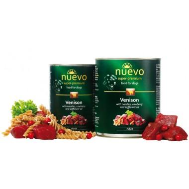 Nuevo (нуэво) консервы для собак с олениной, лапшой, брусникой и сафлоровым маслом купить Минск