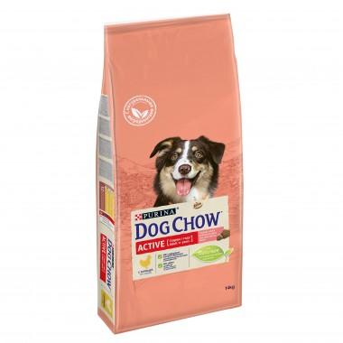 Сухой корм DOG CHOW Adult Active для взрослых активных собак с курицей