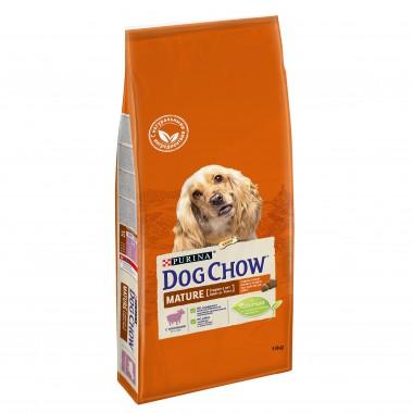 Сухой корм DOG CHOW Adult 5+ для пожилых собак старше 5 лет с ягненком