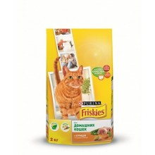 Сухой корм FRISKIES Adult Indoor для домашних кошек с курицей и садовой зеленью