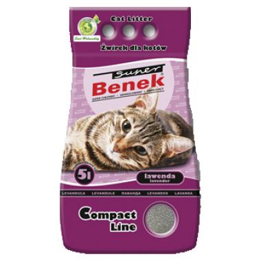 Наполнитель Super Benek Compact Lawanda с ароматом лаванды для кошек