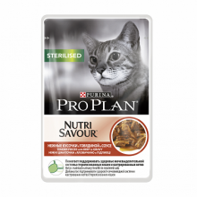 Паучи Pro Plan Nutrisavour Sterilised для стерилизованных кошек в соусе