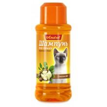 Амстрель шампунь для кошек гладкошерстных с маслом ши