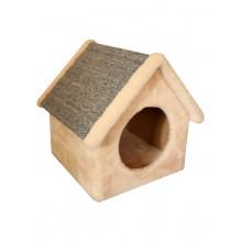 Cat House когтеточка домик будка ковролин