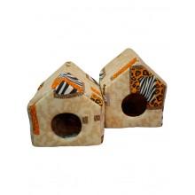 """Cat House лежанка """"Домик"""" поролон и хб"""