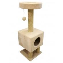 Cat House когтеточка домик на ножках сизаль