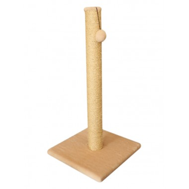 Cat House когтеточка столбик мех и сизаль