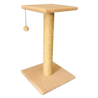 Cat House когтеточка столбик с полкой сизаль