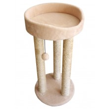 Cat House когтеточка тринога с лежанкой сизаль